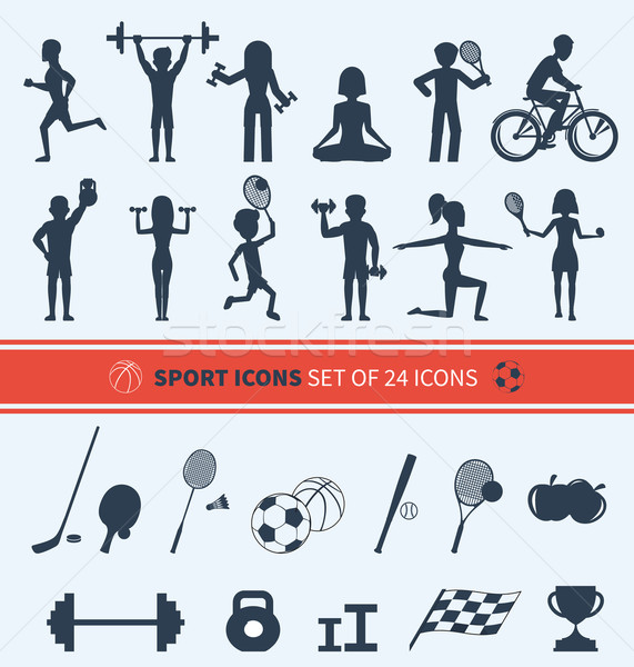 Set of Sport Icons Stock photo © robuart