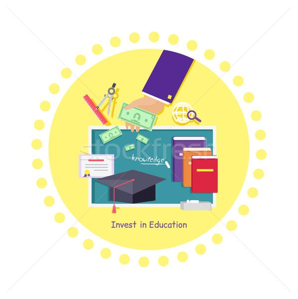教育 アイコン デザイン 投資 金融 管理 ストックフォト © robuart