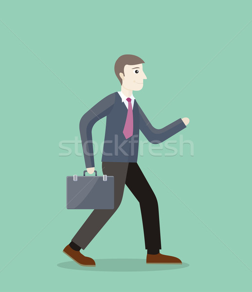 Time for Invest, Man With Briefcase Stock photo © robuart