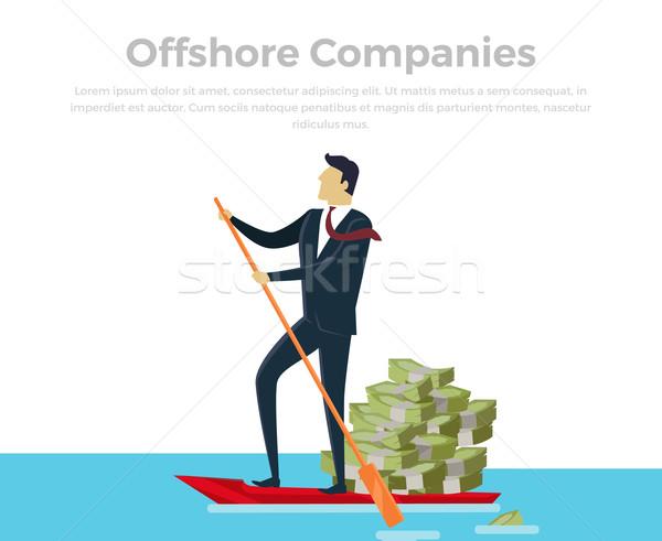 Panama papieren offshore bedrijf bedrijven documenten Stockfoto © robuart