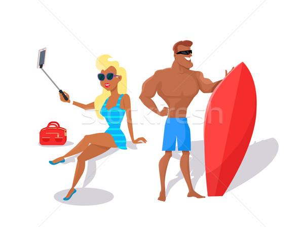 Summer Fun and Entertainments Illustration Stock photo © robuart