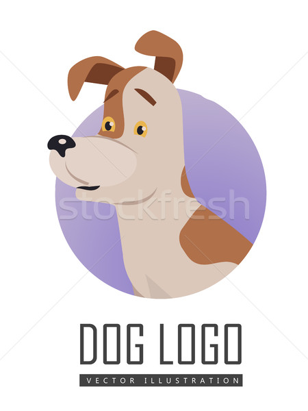 Dog Vector Logo in Flat Style Design   Stock photo © robuart