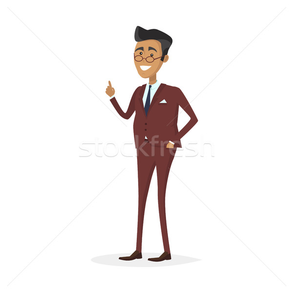 Stok fotoğraf: Adam · karakter · iş · takım · elbise · örnek · erkek