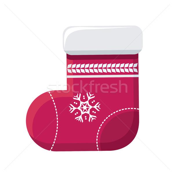 Calcetín Navidad almacenamiento vector diseno ilustración Foto stock © robuart