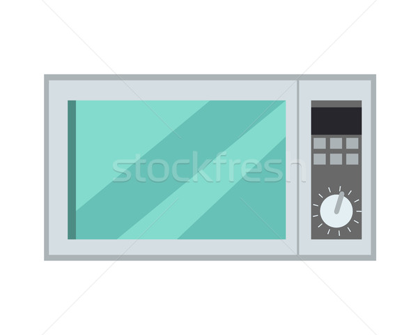Microwave Oven Isolated Kitchen Appliance. Vector Stock photo © robuart