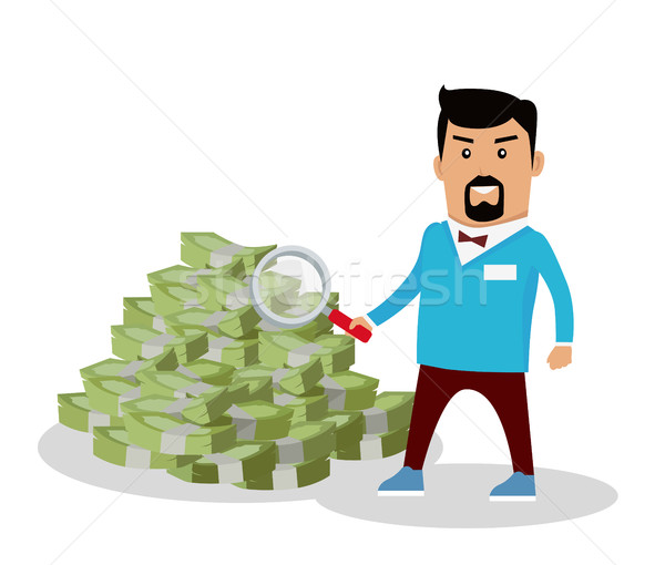 Money Searching Concept Vector in Flat Design Stock photo © robuart