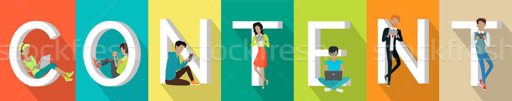Content Banner in Flat Stock photo © robuart