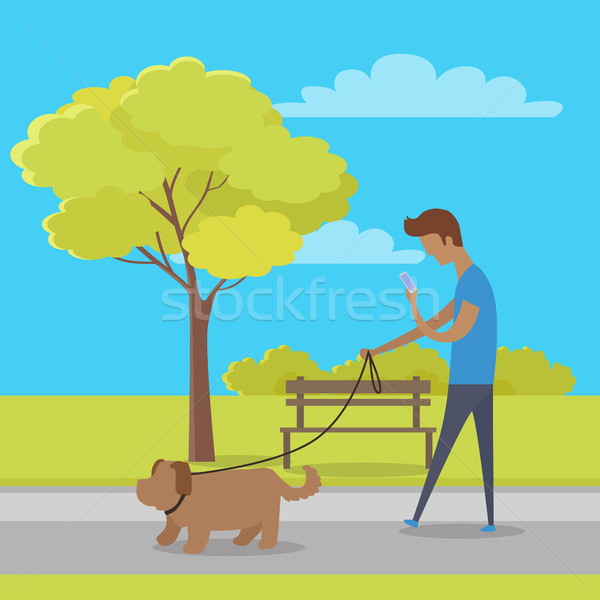 Leisure in City Park Flat Vector Concept Stock photo © robuart