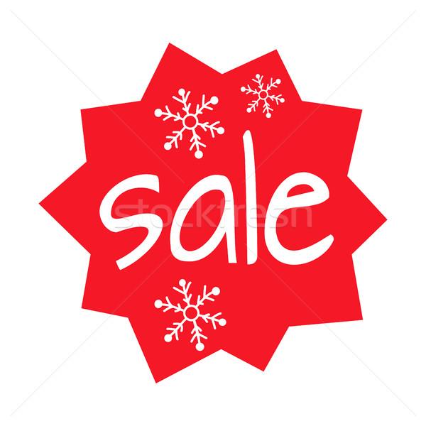 Christmas Sale Shaped Icon on White Background Stock photo © robuart