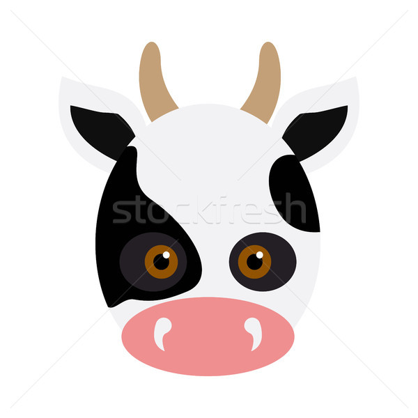 Vache animaux carnaval masque blanche noir Photo stock © robuart