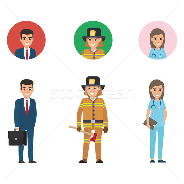 Professions Representative Manager, Saver, Doctor Stock photo © robuart