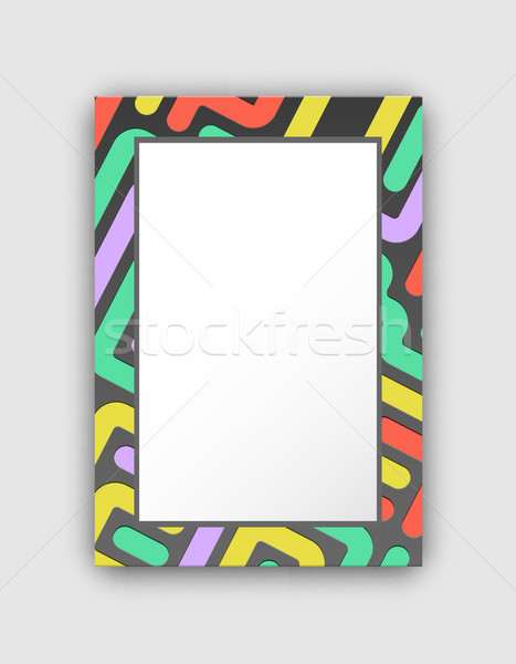 Dark Colored Frame with Lines Vector Illustration Stock photo © robuart