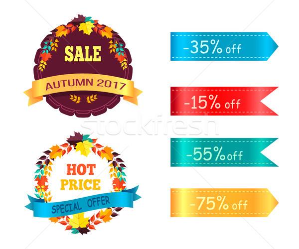 Grande venda 60 25 promo etiqueta Foto stock © robuart