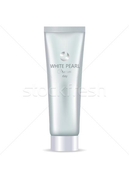 Biały perła dzień twarz strony krem Zdjęcia stock © robuart