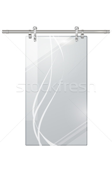 Moving Transparent Door on Checkered Background Stock photo © robuart