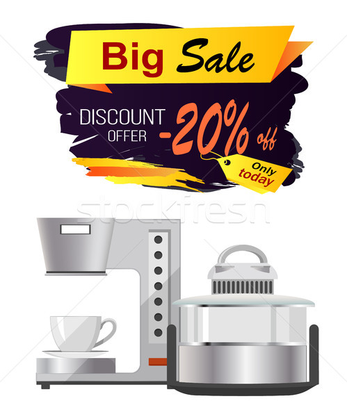 Big Sale Discount Offer Advert Vector Illustration Stock photo © robuart