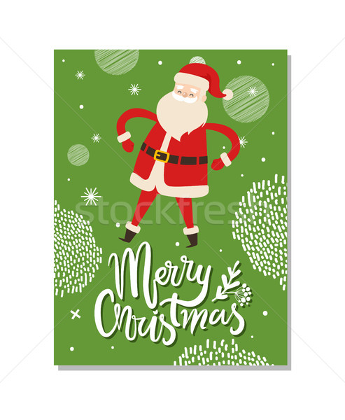 Merry Christmas Postcards with Santa Claus Winter Stock photo © robuart