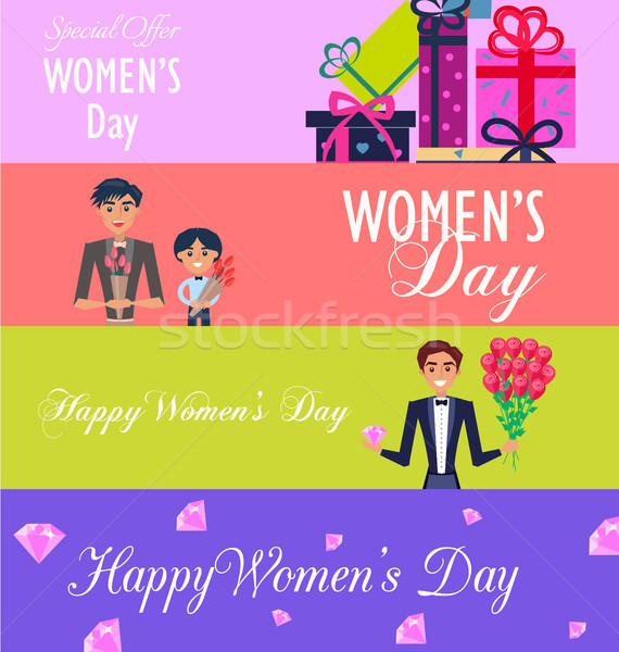 Special Offer for Happy Womens Day Illustration Stock photo © robuart
