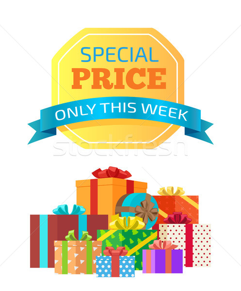 Special Price Only This Week Vector Illustration Stock photo © robuart