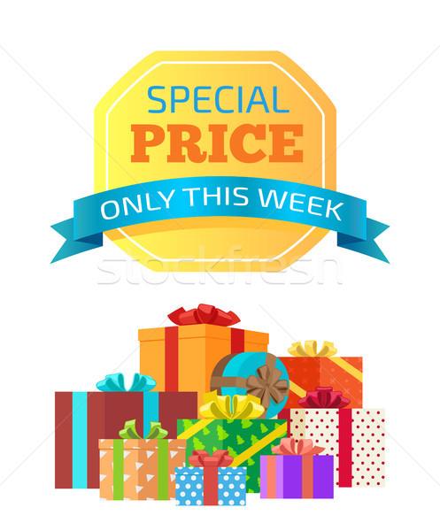 Speciale prezzo settimana annuncio messaggio isolato Foto d'archivio © robuart