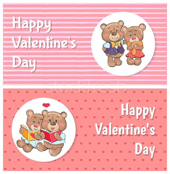 幸せ バレンタインデー ポスター ソフト ふわっとした 女性 ストックフォト © robuart