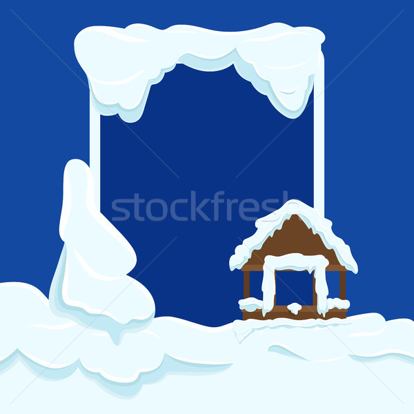 Wooden Garden House Wall with Window under Show Stock photo © robuart