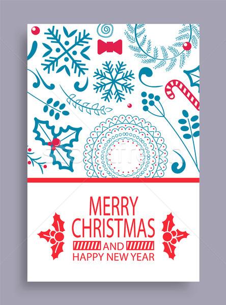 веселый Рождества год охватывать с Новым годом образец Сток-фото © robuart
