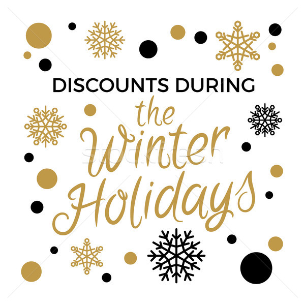 Discounts During Winter Holidays Vector Concept  Stock photo © robuart
