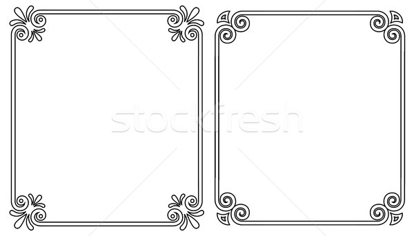 Ornamental Frames with Vintage Decor Bows Elements Stock photo © robuart