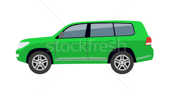 Hatchback Car Body Toy Auto Vector Illustration Stock photo © robuart