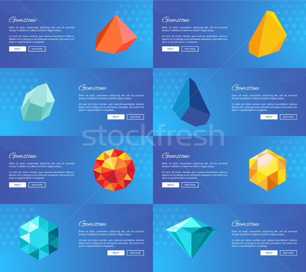 Gemstone Geological Precious Stones Vector Set Stock photo © robuart
