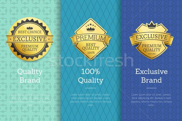 Kalite marka özel en İyi seçim etiketler 100 Stok fotoğraf © robuart