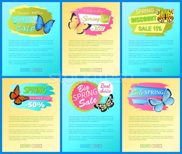 Wektora reklama banery wiosna promo projektu Zdjęcia stock © robuart