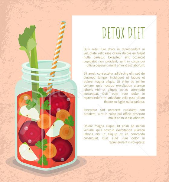 Ernährung Plakat mug erfrischend trinken Stock foto © robuart