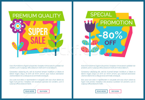 Internet Pages Set Special Promotion 80 Off Label Stock photo © robuart