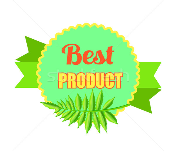 Best Product Bright Promo Logotype with Palm Leaf Stock photo © robuart