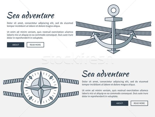 Mare avventura raccolta siti web testo Foto d'archivio © robuart