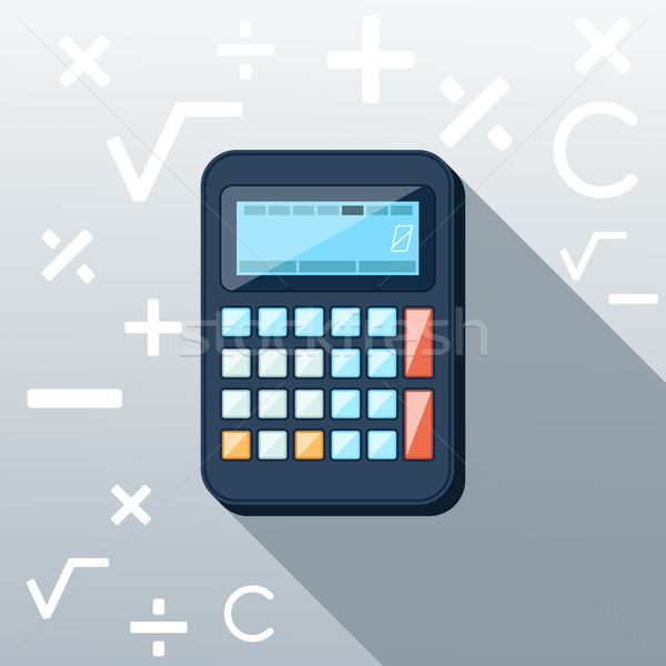 Calculator Flat Concept Icon Vector Illustration Stock photo © robuart