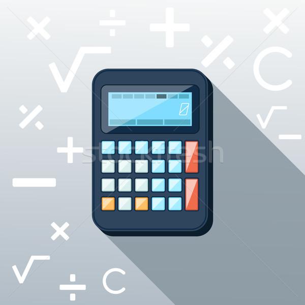 Calculadora icono matemático símbolos multiplicación Foto stock © robuart