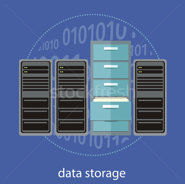 Stockage de données fermes données stockage Photo stock © robuart
