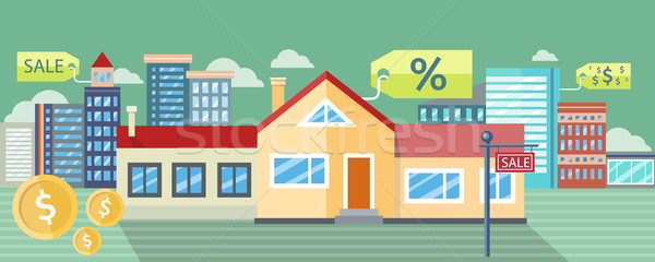 Real Estate, House for Sale, Installment Sale Stock photo © robuart