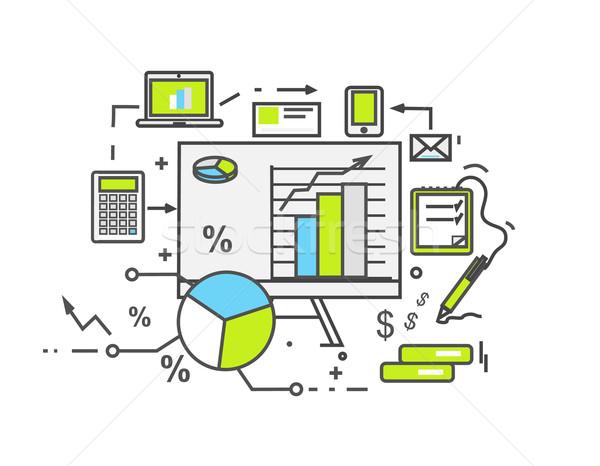 Сток-фото: данные · анализ · икона · дизайна · бизнеса · информации