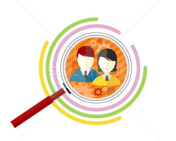 Ikon stílus cél közönség üzlet marketing Stock fotó © robuart