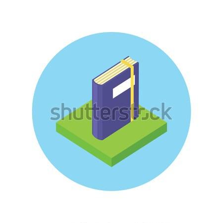 アイソメトリック 図書 ロゴ にログイン デザイン アイコン ストックフォト © robuart