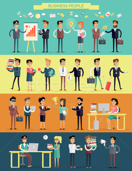 Business People Characters Vector Set Stock photo © robuart