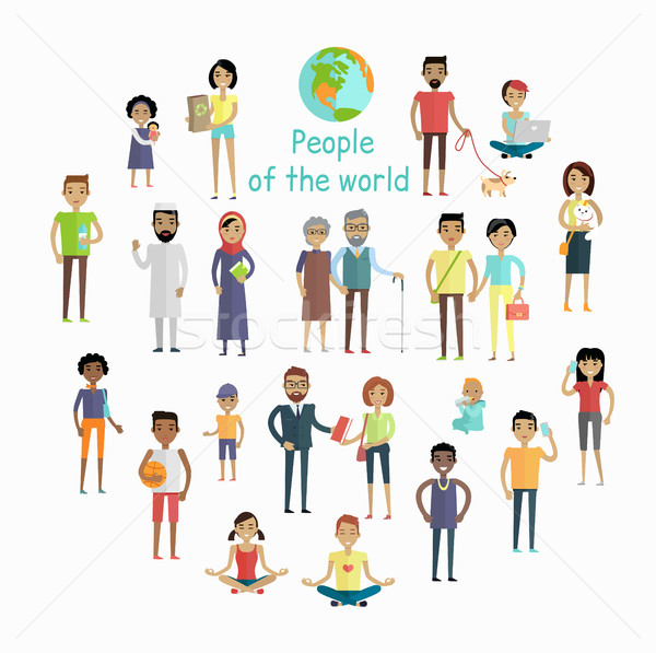People of The World Vector Concept in Flat Design. Stock photo © robuart