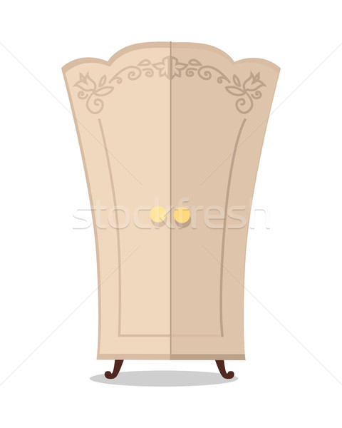 Wooden Cupboard Closeup Stock photo © robuart