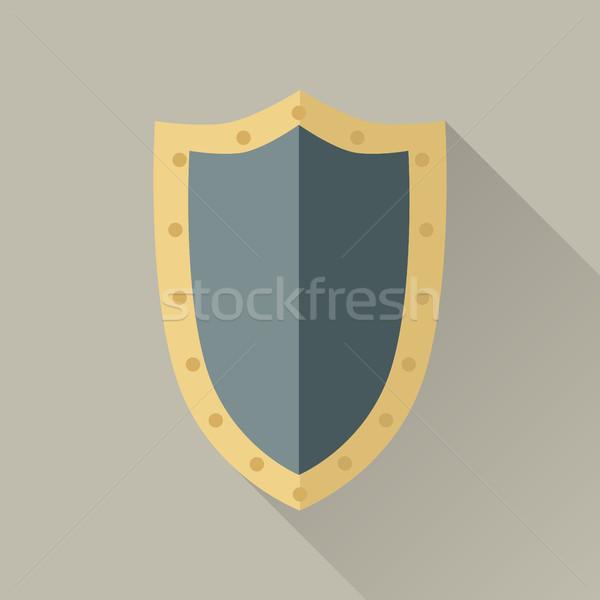 Juego objeto guerrero escudo grande azul Foto stock © robuart