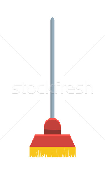 Escoba aislado blanco limpieza herramienta signo Foto stock © robuart