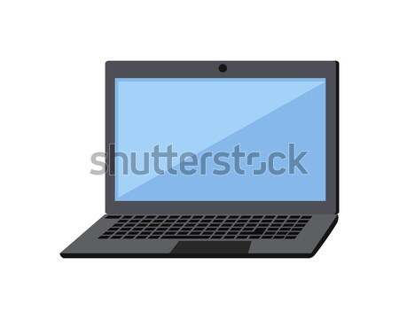 Laptop Flat Icon Stock photo © robuart